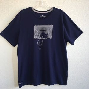 Nike Dri-Fit Basketball Navy Tee